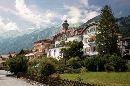 This is a view of the Municipality of Brienz in the district of Interlaken in the canton of Berne in Switzerland