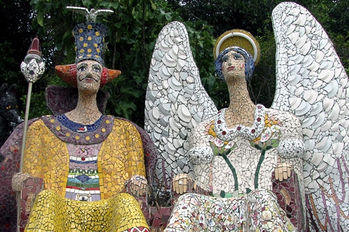 Colorful Mosaic Statues
