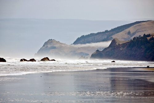 View along the beach from Surftides Lincoln City. Photo: Courtesy Surftides