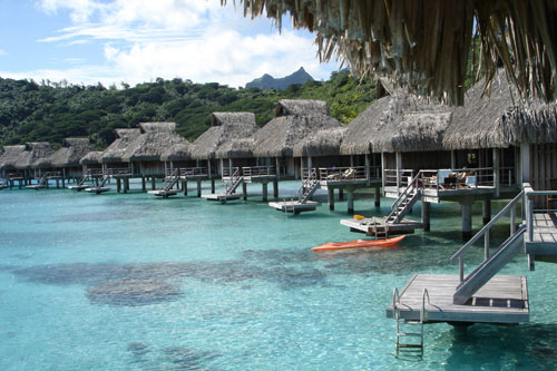 Over water Bungalows in Bora Bora, French Polynesia