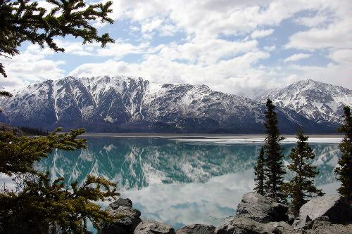 Lake Kluane in Kluane National Park, Yukon Territories, Canada