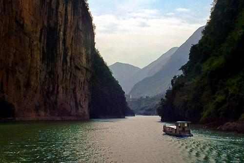 The Three Gorges on the Yangtze River.