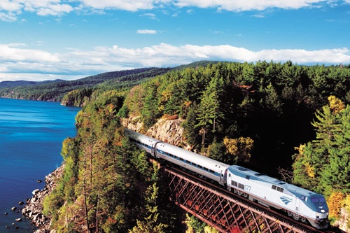 Amtrak's Adirondack train, between New York City and Montreal. Photo: Courtesy Amtrak