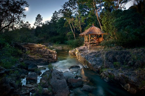 Privassion River, Blancaneaux Lodge in Cayo District, Belize.