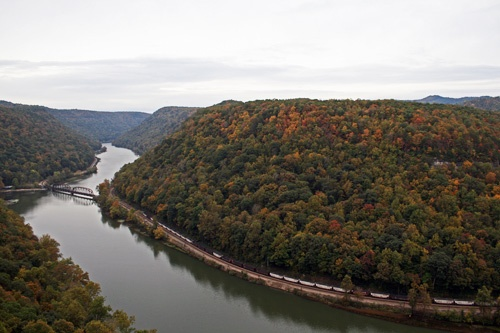 New River Gorge, viewed from Hawk's Nest State Park in West Virginia