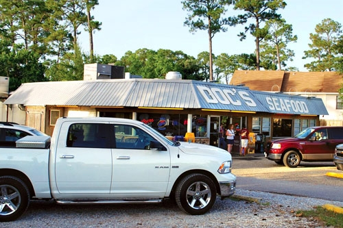 Doc's Seafood Shack & Oyster Bar in Orange Beach, Alabama. Photo: Southern Living Off the Eaten Path
