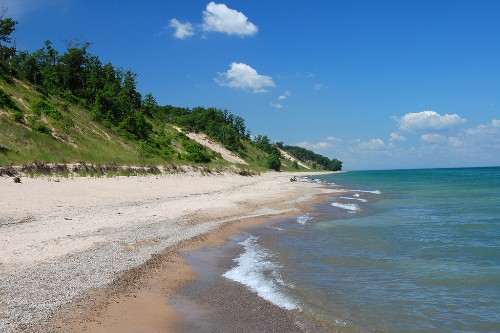 A view of the Indiana Dunes, south of Mt. Baldy in Michigan City, Indiana.