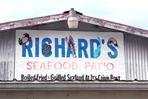 Richard's Seafood Patio, Abbeville, Louisiana. Photo: Southern Living Off the Eaten Path