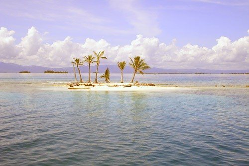 One of the many islands in the San Blas region, Panama.