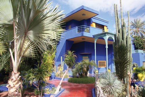 The botanical lushness of Jardin Majorelle is refreshing on a hot day.