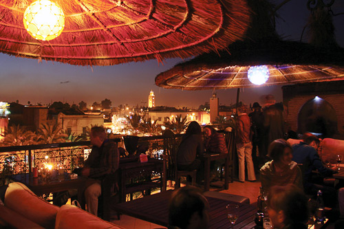 The rooftop terrace of Kosybar.