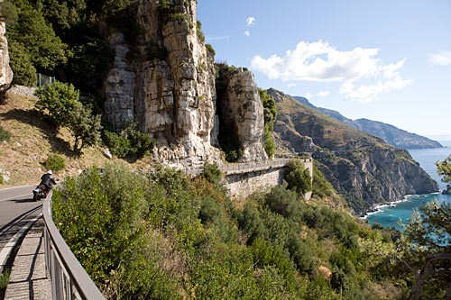 The winding stretch of coastal road between Sorrento and Amalfi is one of Europe's classic drives.