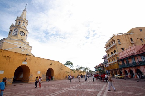 Historical center of Cartagena, Colombia.