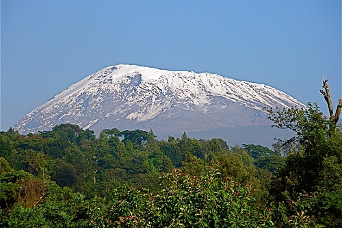 Mt. Kilimanjaro, bordering Kenya and Tanzania.