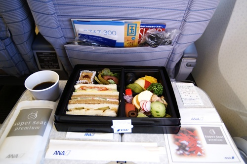 In-flight meal on Japanese airline ANA.