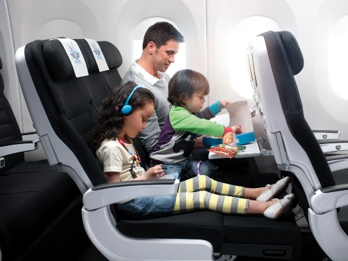 Air New Zealand offers goodie bags to help keep kids entertained.