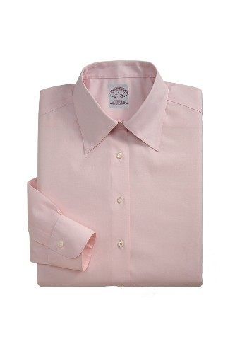 Women's wrinkle-resistant dress shirt by Brooks Brothers.