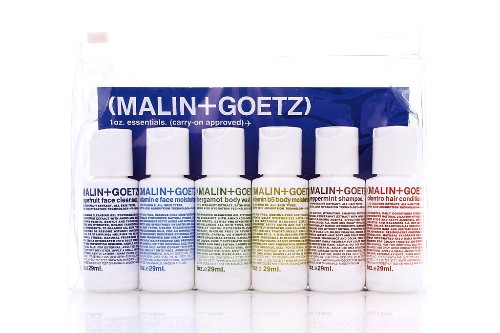 "The Essential Kit by Malin + Goetz, $30. <a href=""http://www.birchbox.com/shop/malin-goetz-essential-kit"" target=""_blank"">www.3floz.com</a>."