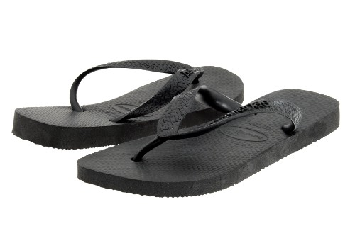 "Havaianas Top Black flip-flops for women, $18. <a href=""http://www.zappos.com/havaianas-top-black~1"" target=""_blank"">www.zappos.com</a>."