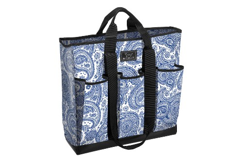 "Scout by Bungalow's Pocket Rocket multi-pocketed tote, $42.<a href=""URL"" target=""_blank"">www.bungalowco.com</a>."