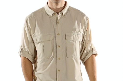 "Air Strip Lite shirt by ExOfficio, $80.<a href=""http://www.ems.com/product/index.jsp?productId=3649255&cp=3712723.3716512.3716795"" target=""_blank"">www.ems.com</a>."