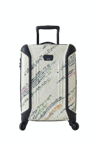 "21-inch Vapor International Carry-On bag by Tumi, $445. <a href="" http://www.tumi.com/product/index.jsp?productId=4063099&prodFindSrc=paramNav "" target=""_blank"">www.tumi.com</a>."