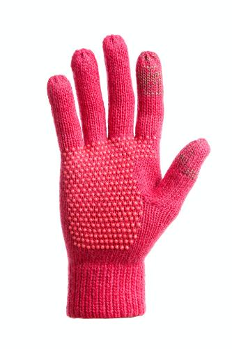 "Conductive Solid Knit Glove, $20, A portion of proceeds from the fuschia style will benefit the National Breast Cancer Foundation. <a href=""http://www.freehands.com/solid-wool-acrylic-knit-womens/"" target=""_blank"">www.freehands.com</a>."