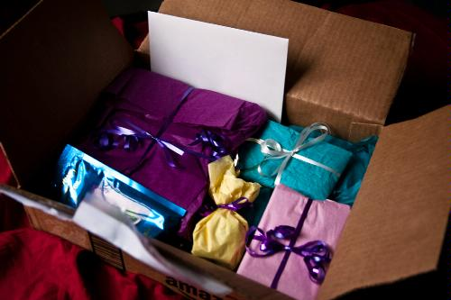 A box of gifts ready to be opened.