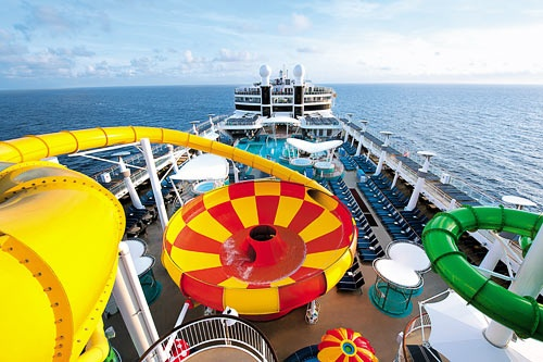 The Epic Plunge water slide aboard NCL's Norwegian Epic. Courtesy NCL