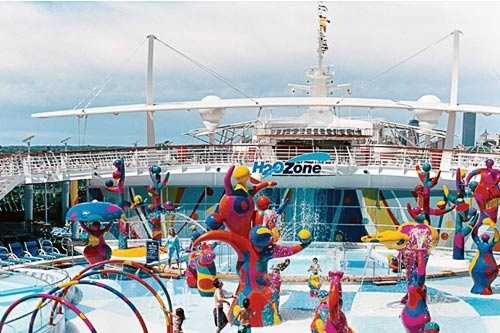 The H20 water park aboard Royal Caribbean's Freedom of the Seas. Courtesy Royal Caribbean