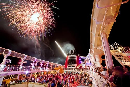 The fireworks-at-sea show aboard Disney Dream. Courtesy Disney Cruise Line