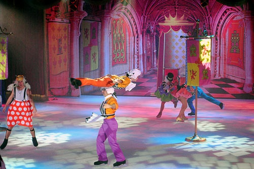"The ice-dancing show aboard Royal Caribbean's Oasis of the Seas features skaters acting out various Hans Christian Andersen fairytales, including ""The Emperor's New Clothes."""