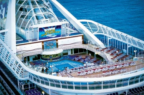 """Movies Under the Stars"" is a popular activity for families aboard Princess Cruises' Caribbean Princess. Courtesy Princess Cruises"