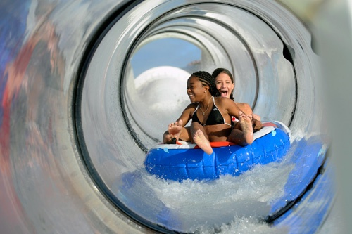 Kids enjoying the AquaDuck. Photo by Disney Cruise Line/Todd Anderson