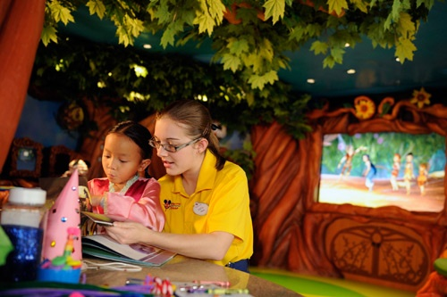 Kids' activities in Pixie Hollow, part of the ship's enormous children's center. Photo by Disney Cruise Line/Diana Zalucky