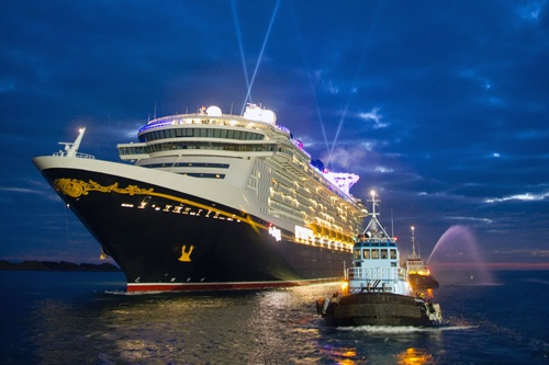 Disney Dream arriving in Port Canaveral, Florida on January 4, 2011. Photo by Disney Cruise Line / David Roark