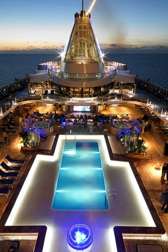 The pool deck aboard Oceania's Marina.