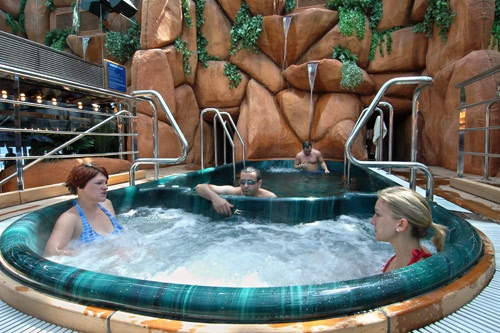 Passengers enjoy the spa on Carnival Glory. Photo: Carnival Cruise Lines