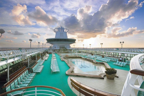 The pool deck atop the Majesty of the Seas. Photo: Royal Caribbean International