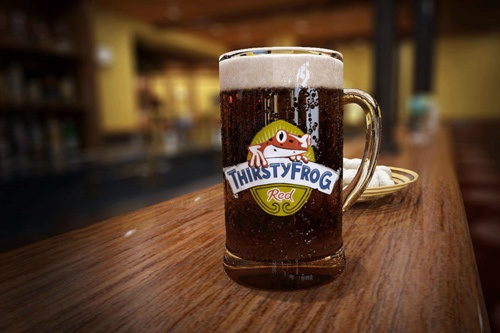 The RedFrog Pub's house brew, ThirstyFrog Red Lager. Photo: Courtesy of Carnival Cruise Lines