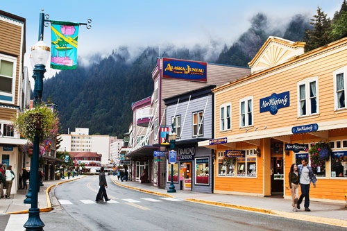 Franklin Street runs from the cruise docks through the heart of Juneau, Alaska's capital city. Photo: Courtesy Celebrity Cruises