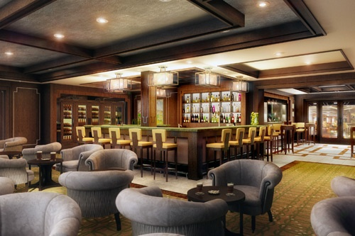 An architect's rendering (subject to change) of Celebrity Silhouette's Michael's Club. Rendering courtesy of Celebrity Cruises