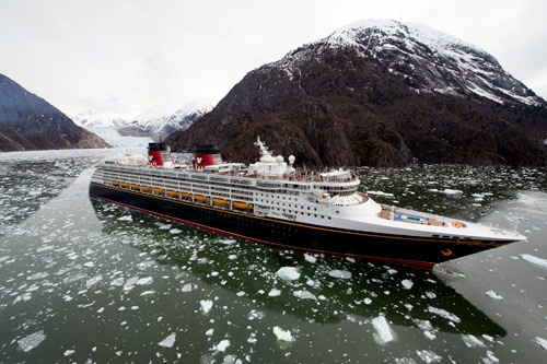 Disney Wonder in Tracy Arm. Photo: Disney Cruise Line