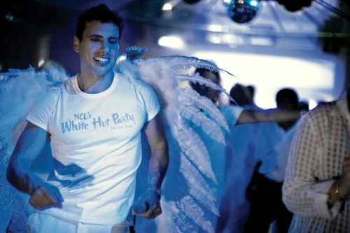 Norwegian Cruise Line's White Hot Party.
