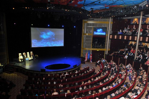 The theatre inside the Celebrity Silhouette's sister ship, Celebrity Eclipse. The two venues are identical.