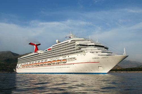 The Carnival Liberty offers passage to the Caribbean for close to 3,000 travelers.