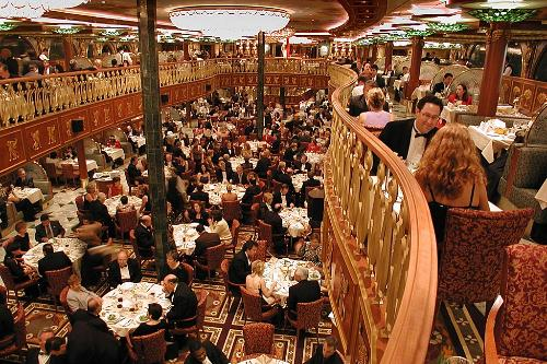 The Empire Dining Room gives passengers a great cruise dining experience on the Carnival Spirit.