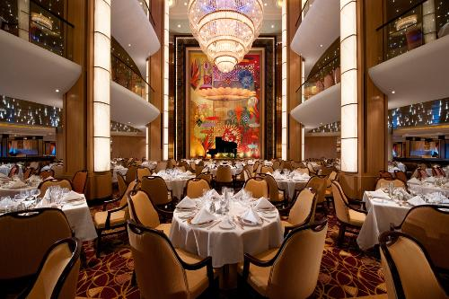 The Adagio Dining Room on the Allure of the Seas.