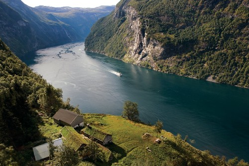 The Gierangerfjord, Norway.