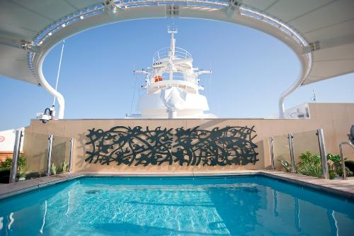 Part of the MSC Yacht Club, one of the private pools on the MSC Splendida.